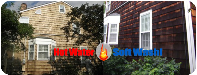 Power Washing In Derry New Hampshire Removing Mold Algae W